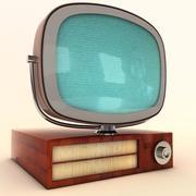 旧电视 3d model