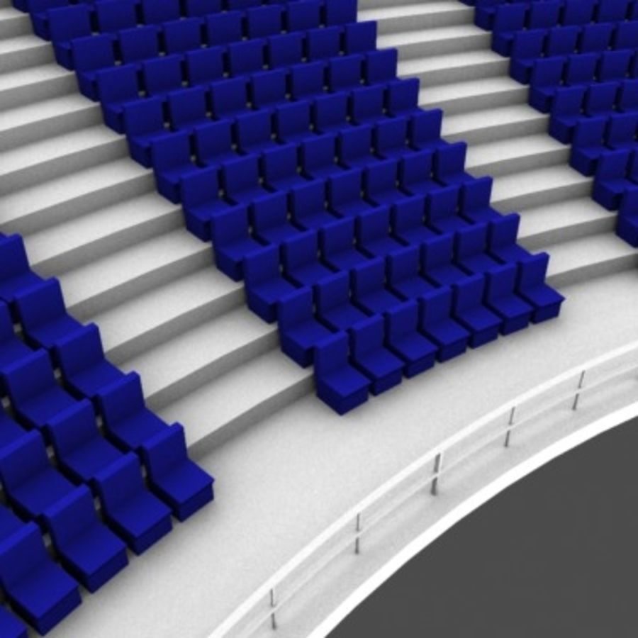 Стадион Seats v2 royalty-free 3d model - Preview no. 5