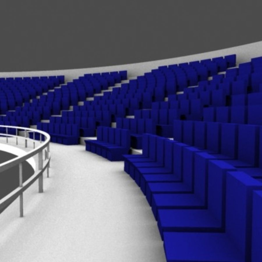 Стадион Seats v2 royalty-free 3d model - Preview no. 3