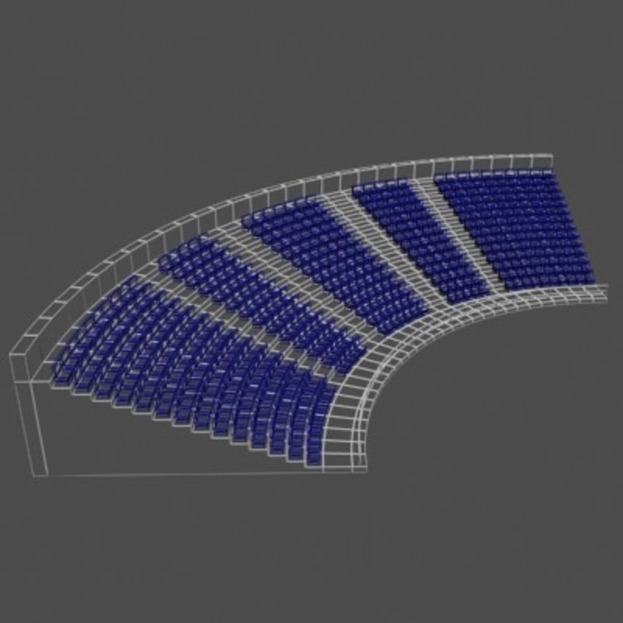 Стадион Seats v2 royalty-free 3d model - Preview no. 2