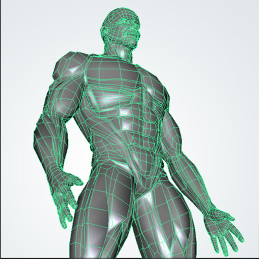 Cyborg royalty-free 3d model - Preview no. 7