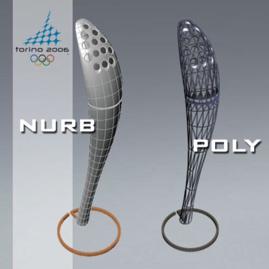 Torcia Olimpica di Torino 2006 royalty-free 3d model - Preview no. 5