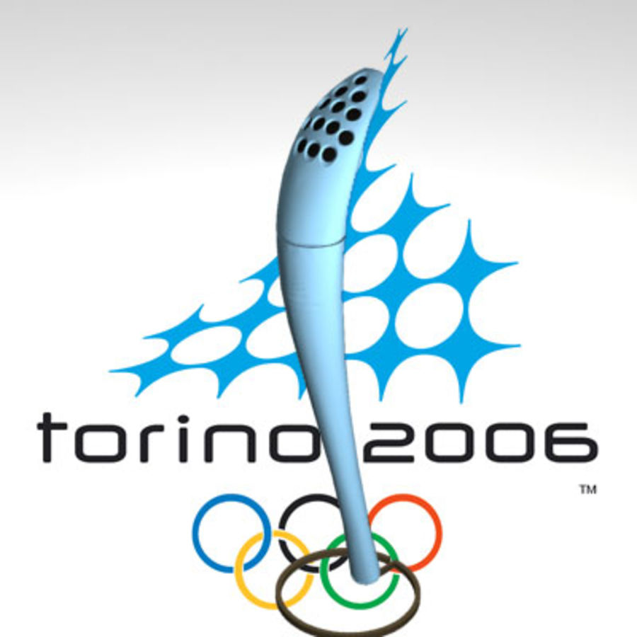 Torcia Olimpica di Torino 2006 royalty-free 3d model - Preview no. 1