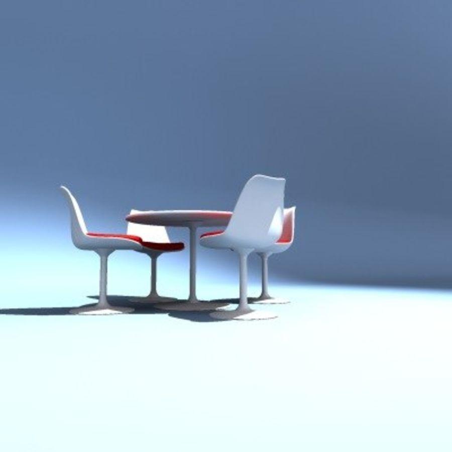 Eero Saarinen Tulip Sedie E Tavolo Modello 3d 10 Dxf Xsi W3d Obj Max Fbx 3ds Free3d