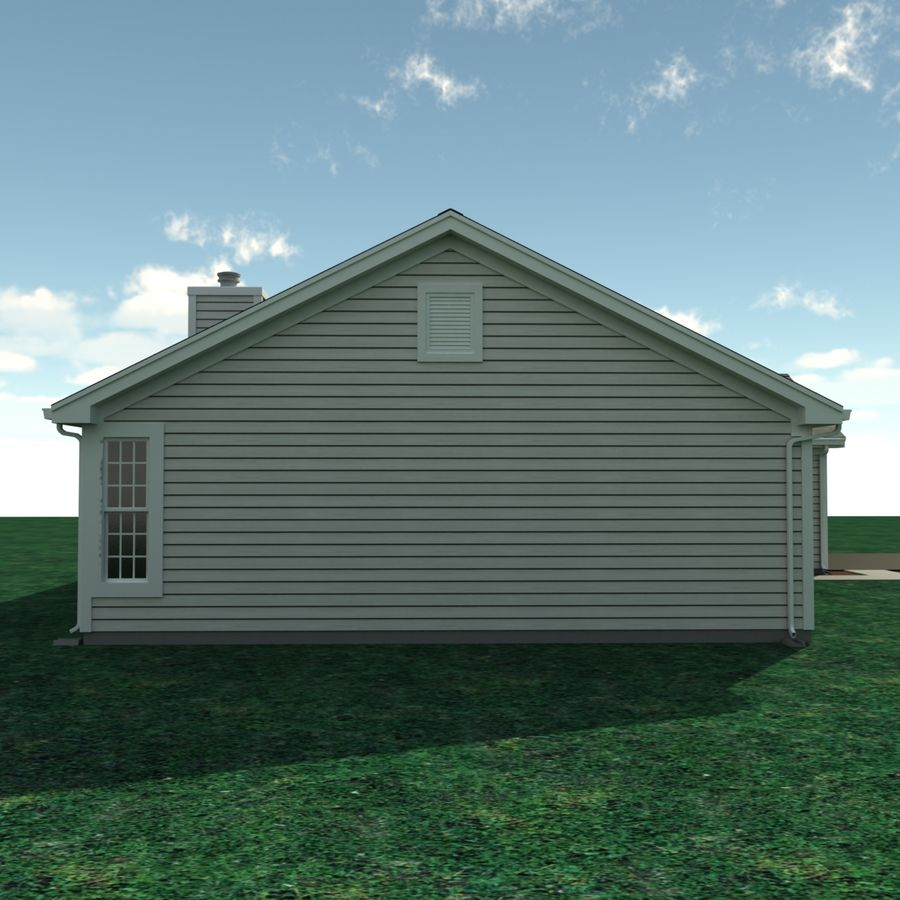 One Story House A3005a 3d Model 49 Max Obj Free3d