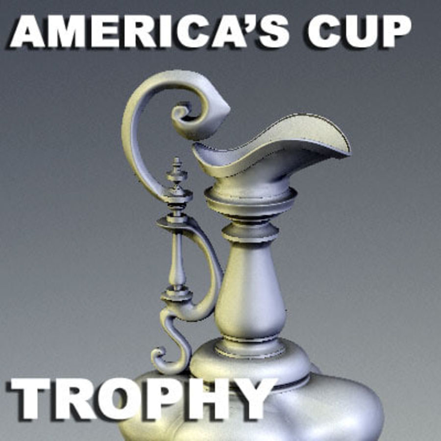 Trofeo Coppa America royalty-free 3d model - Preview no. 1