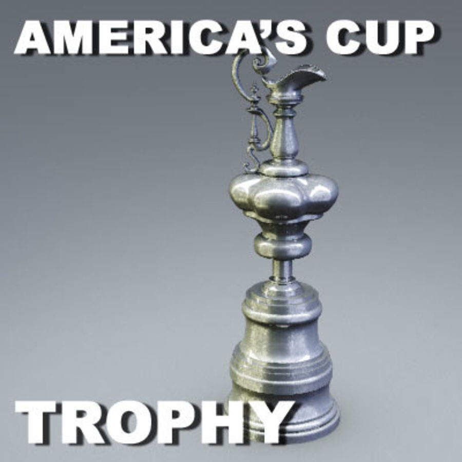 Trofeo Coppa America royalty-free 3d model - Preview no. 3