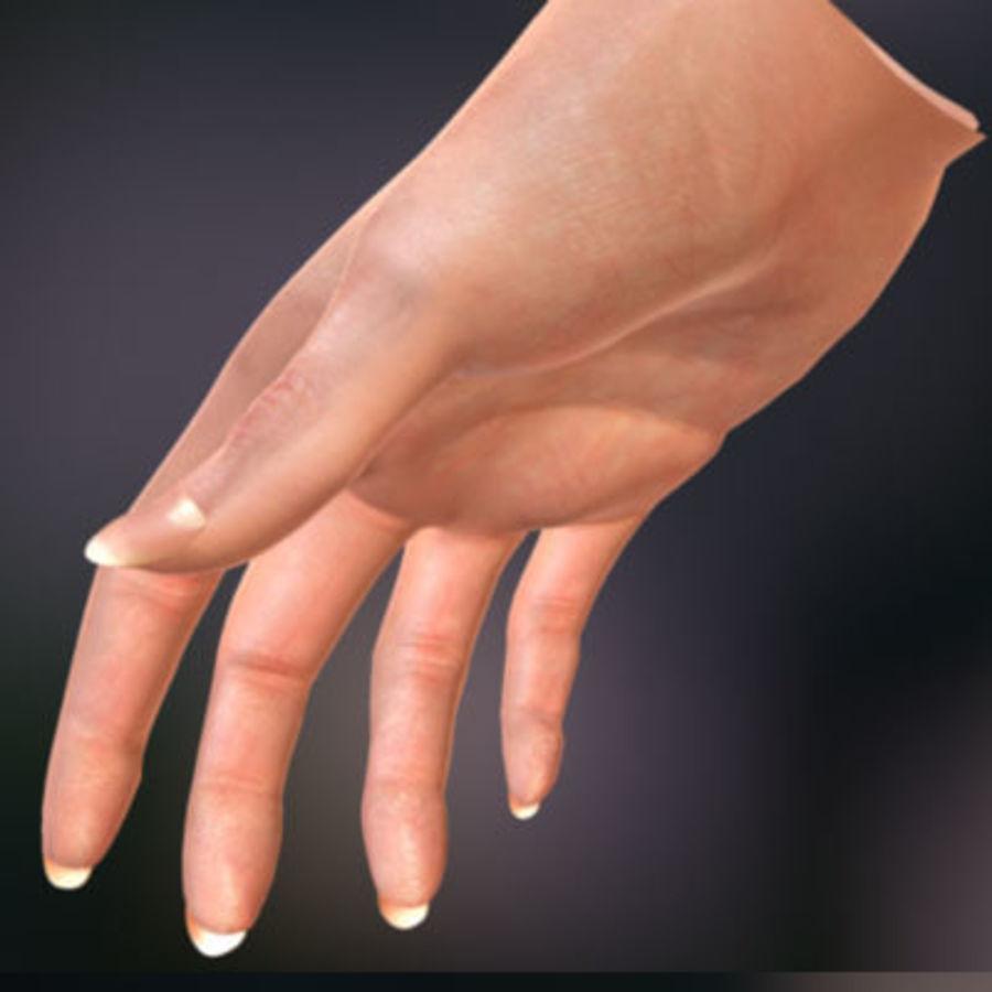 Vrouwelijke hand royalty-free 3d model - Preview no. 3