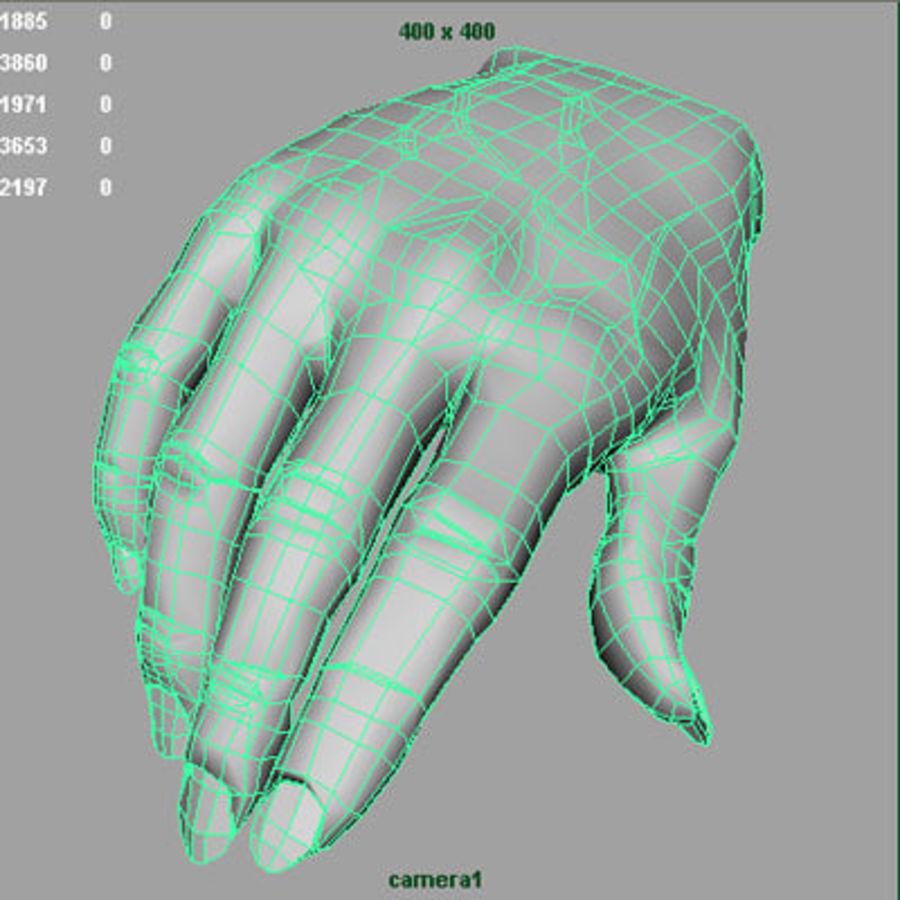 Vrouwelijke hand royalty-free 3d model - Preview no. 9