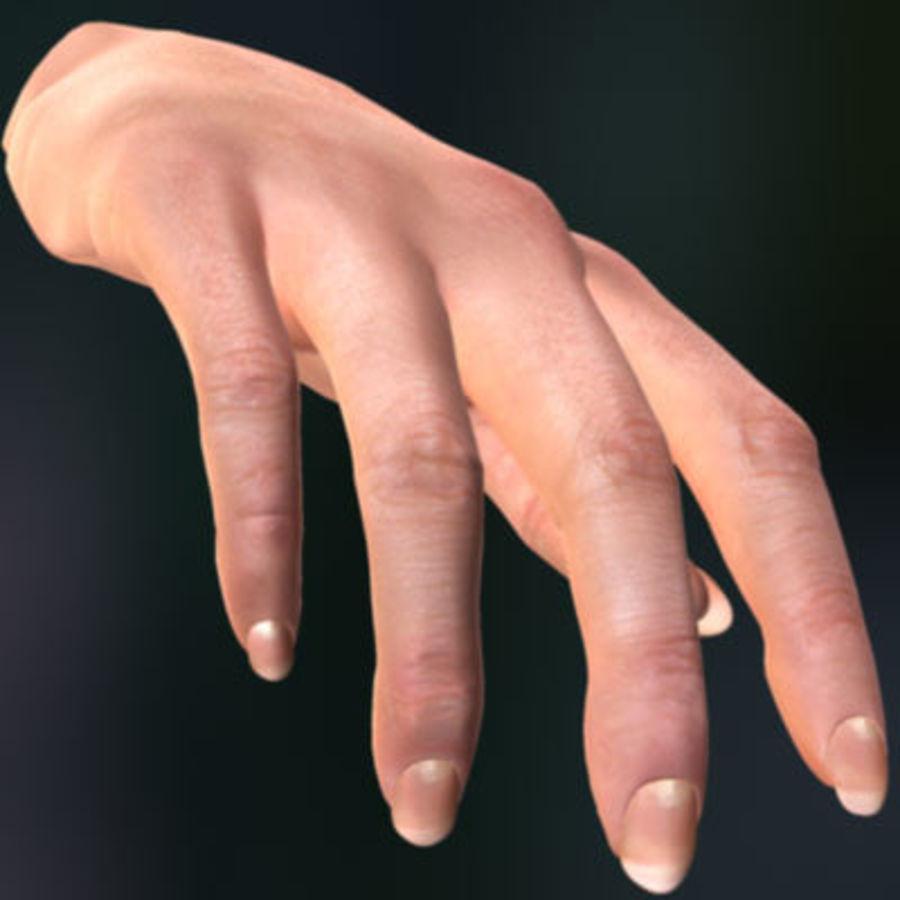 Vrouwelijke hand royalty-free 3d model - Preview no. 1