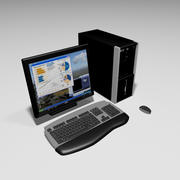 Computer systeem 3d model