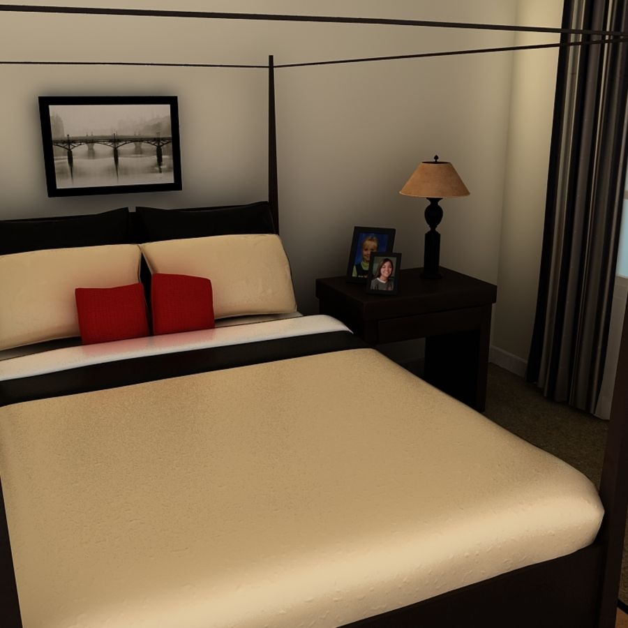 bed black.zip royalty-free 3d model - Preview no. 5