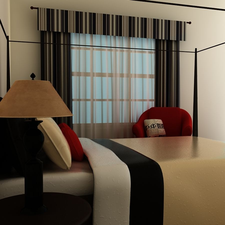bed black.zip royalty-free 3d model - Preview no. 4