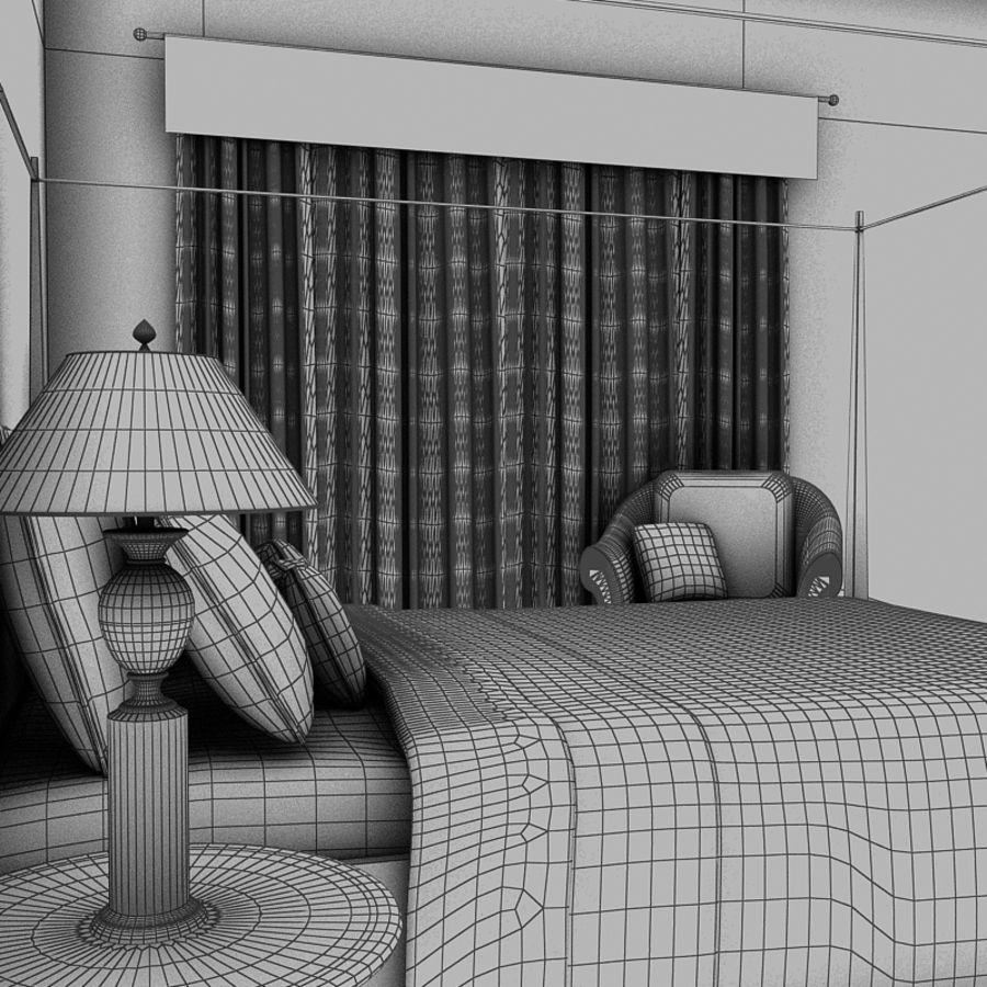 bed black.zip royalty-free 3d model - Preview no. 10