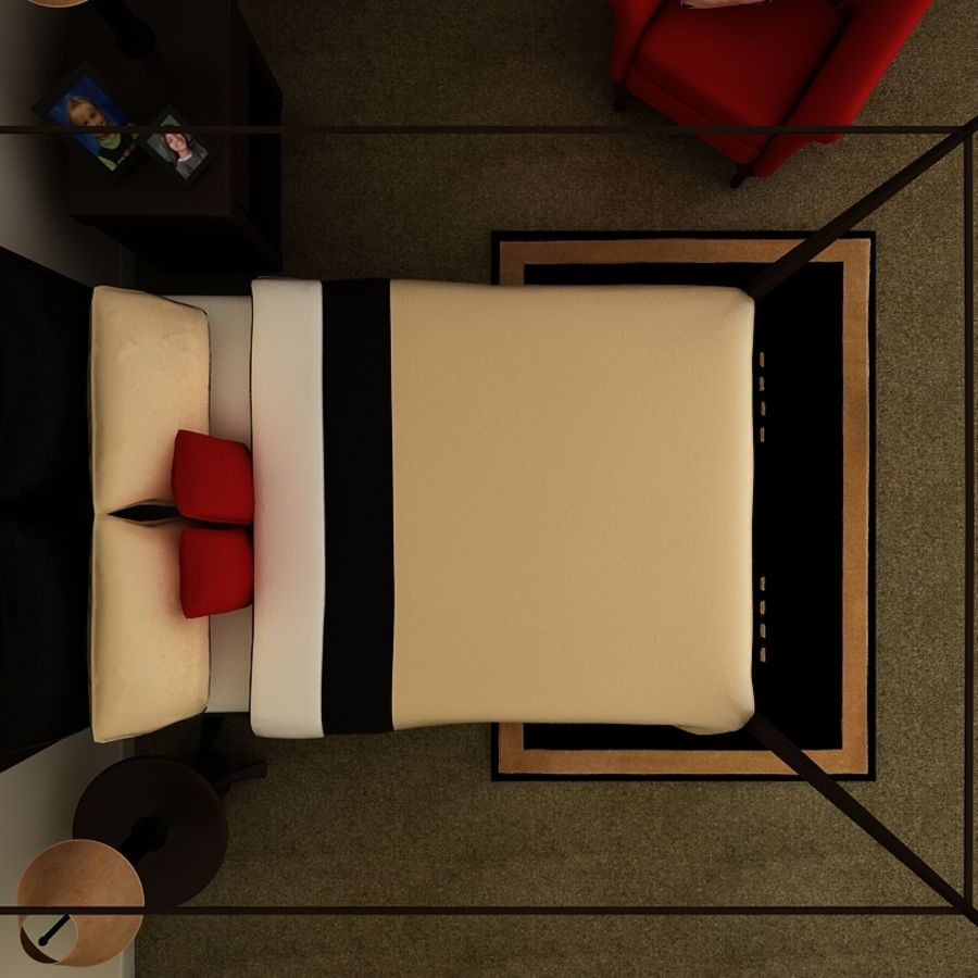 bed black.zip royalty-free 3d model - Preview no. 2