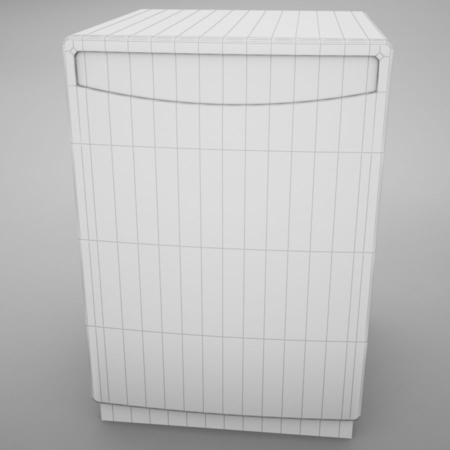 Dishwasher royalty-free 3d model - Preview no. 18