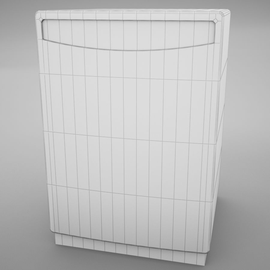 Dishwasher royalty-free 3d model - Preview no. 11