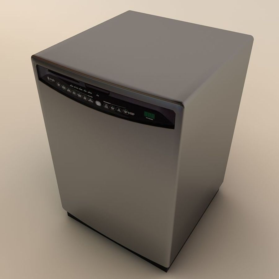 Dishwasher royalty-free 3d model - Preview no. 8