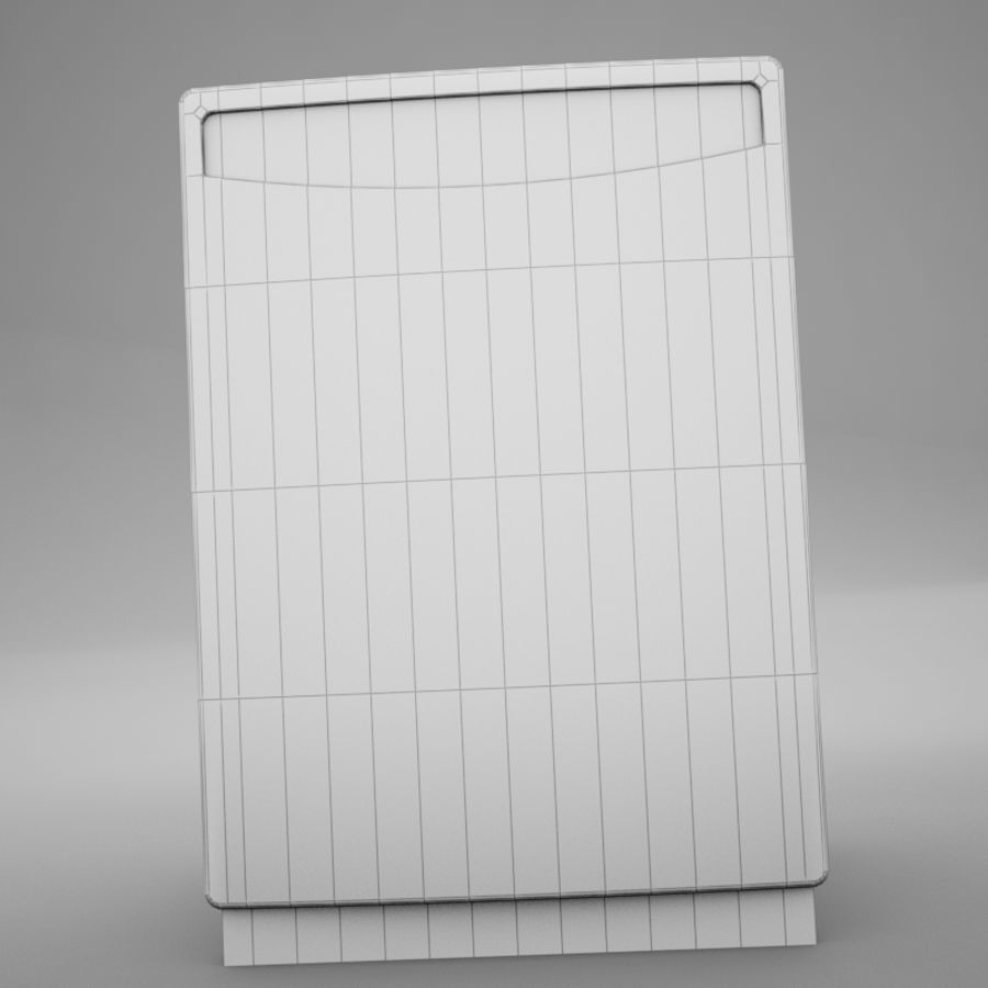 Dishwasher royalty-free 3d model - Preview no. 14