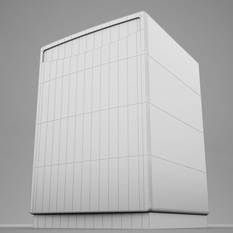 Dishwasher royalty-free 3d model - Preview no. 17