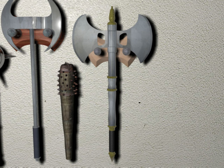 Melee Weapons royalty-free 3d model - Preview no. 4