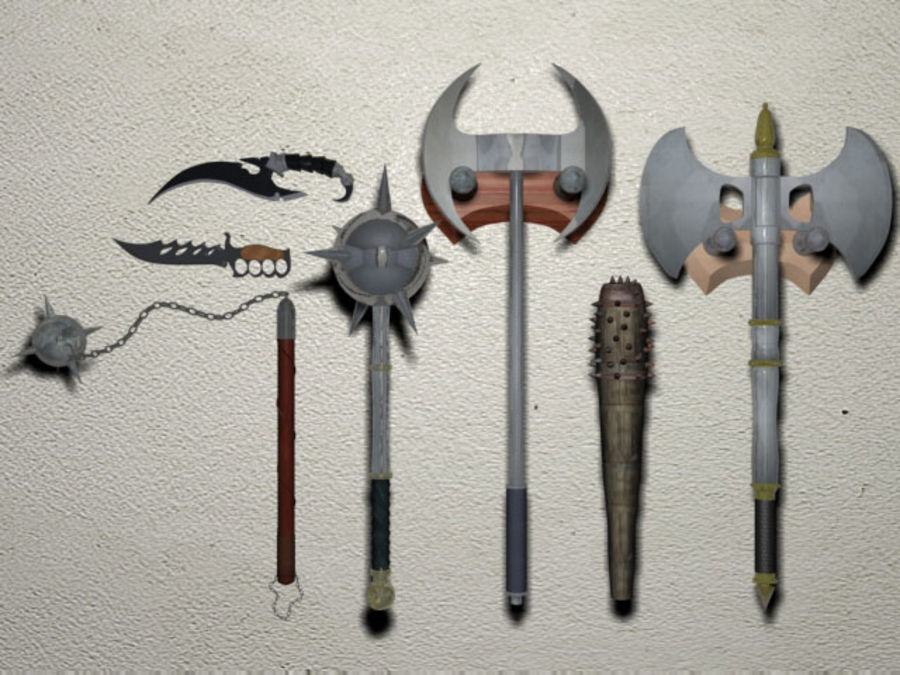 Melee Weapons royalty-free 3d model - Preview no. 1