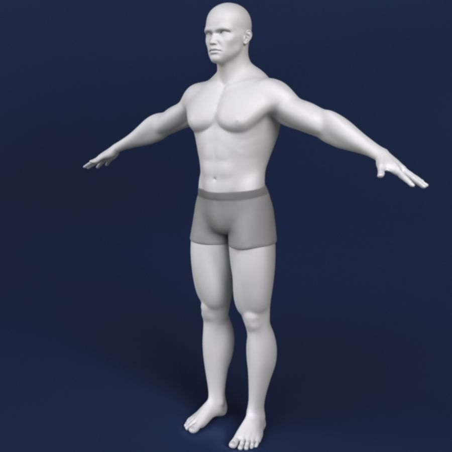 Modelo 3d masculino royalty-free 3d model - Preview no. 4