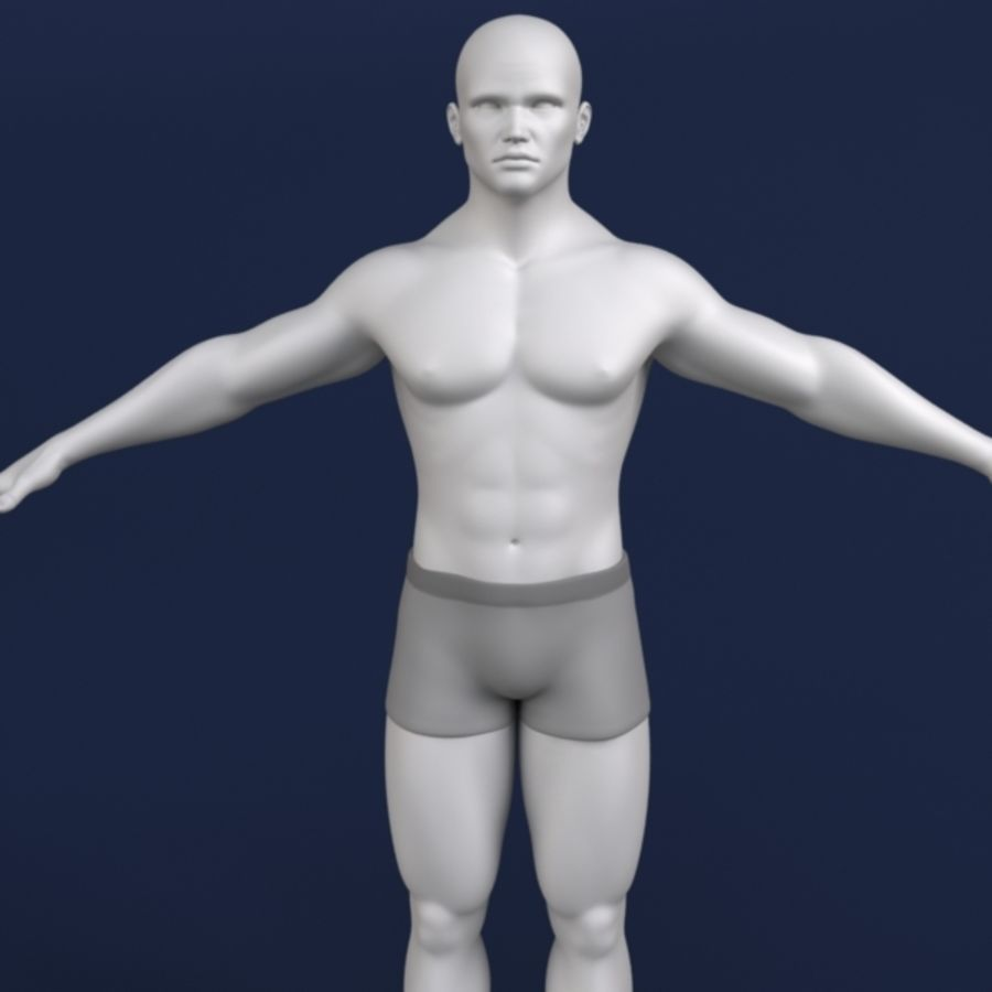 Modelo 3d masculino royalty-free 3d model - Preview no. 1