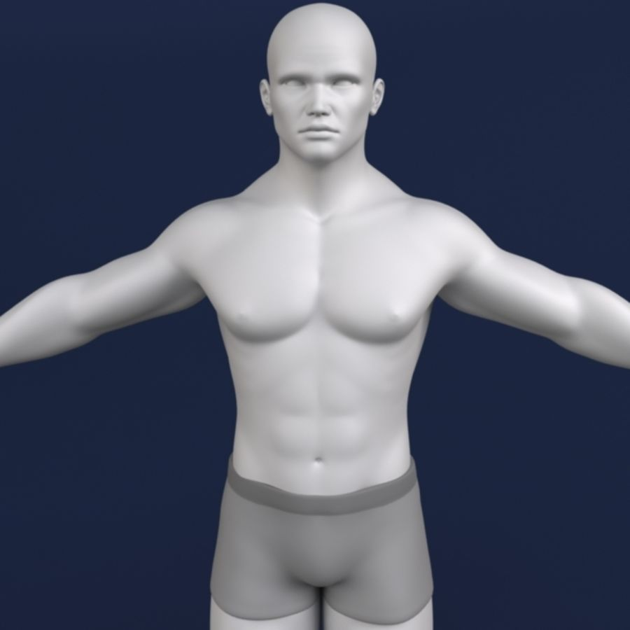 Modelo 3d masculino royalty-free 3d model - Preview no. 2