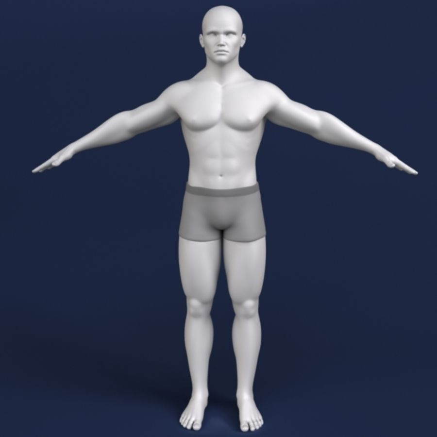 Modelo 3d masculino royalty-free 3d model - Preview no. 3
