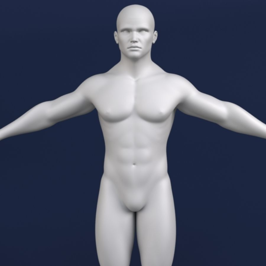 Modelo 3d masculino royalty-free 3d model - Preview no. 5