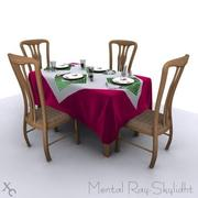 Table dining-Four2.zip 3d model