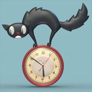 Cat Clock 3d model