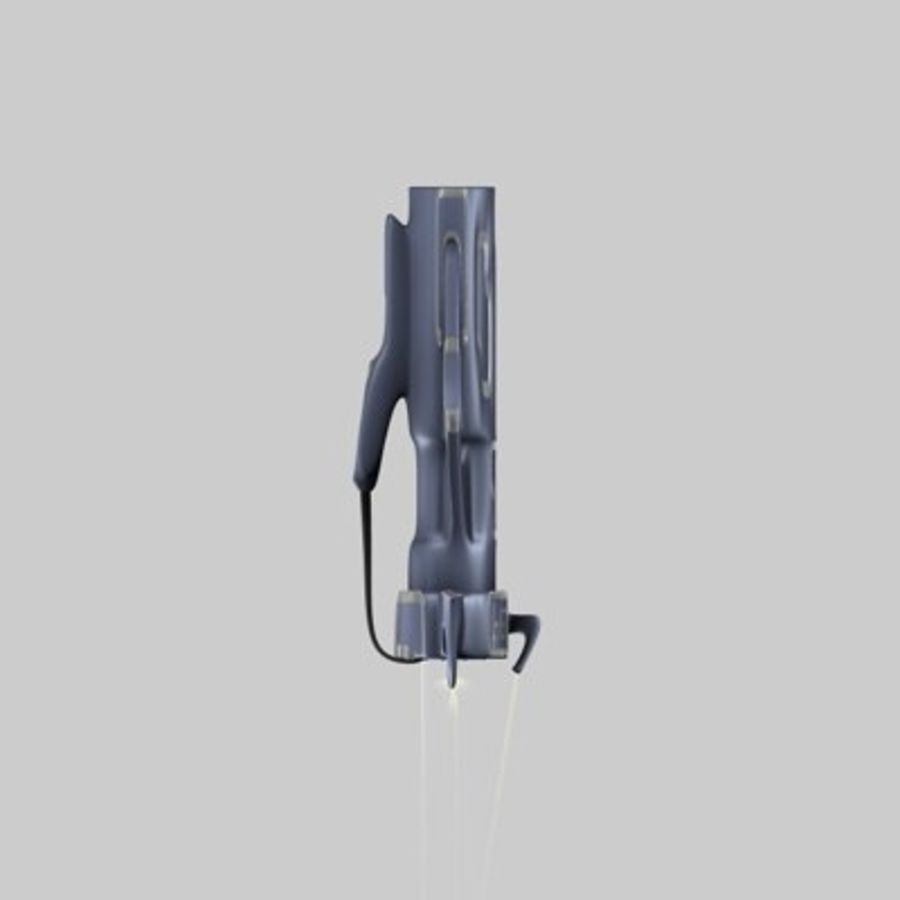 Futurystyczny pistolet royalty-free 3d model - Preview no. 11