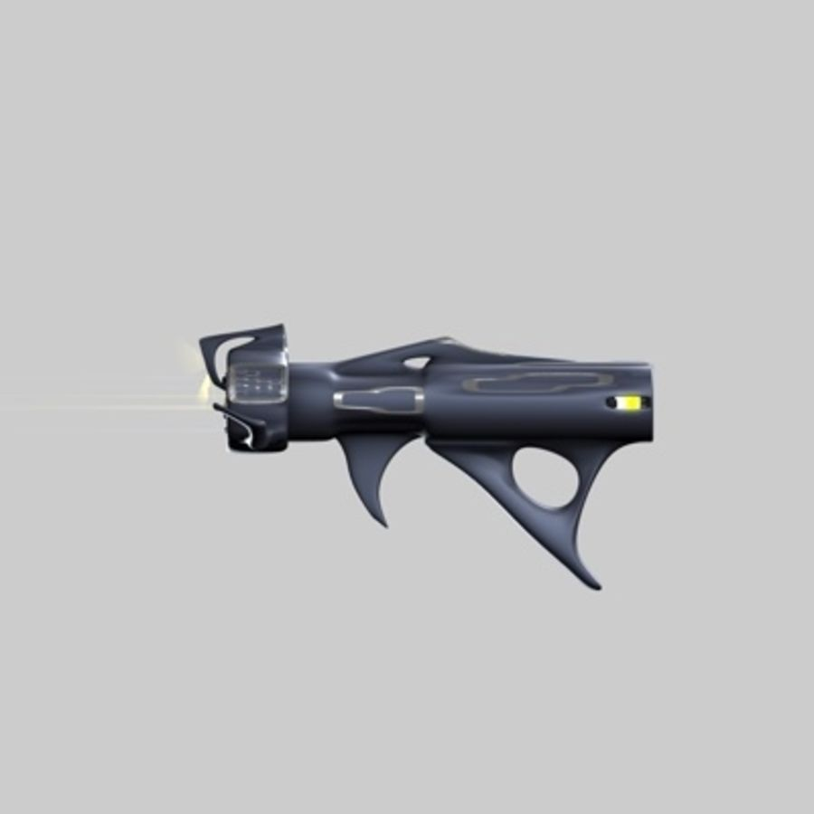Futurystyczny pistolet royalty-free 3d model - Preview no. 10