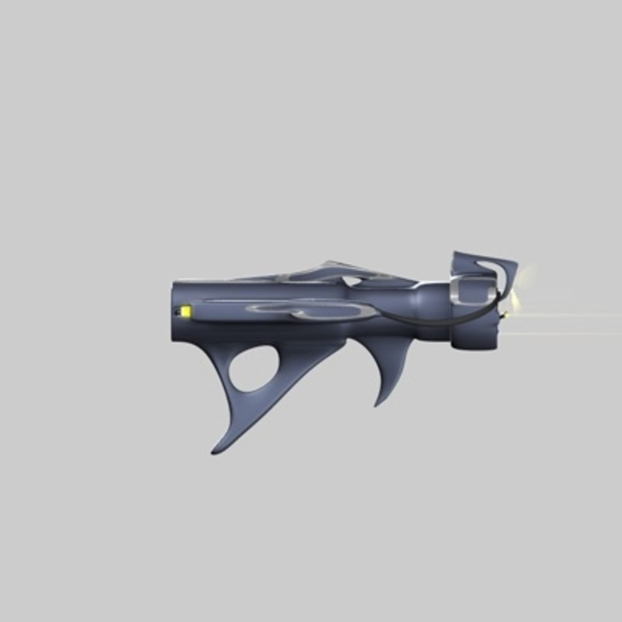 Futurystyczny pistolet royalty-free 3d model - Preview no. 9