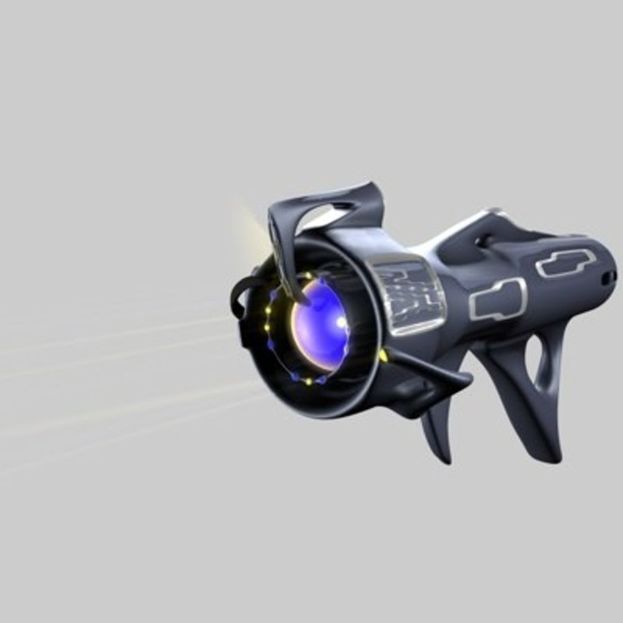 Futurystyczny pistolet royalty-free 3d model - Preview no. 7