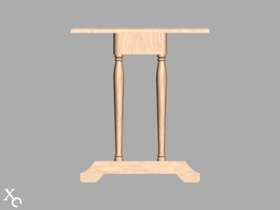 Table Prague H722x1250x650-v6 royalty-free 3d model - Preview no. 4