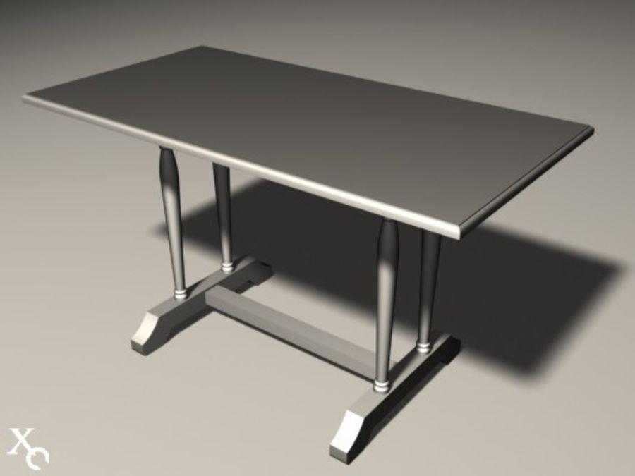 Table Prague H722x1250x650-v6 royalty-free 3d model - Preview no. 9