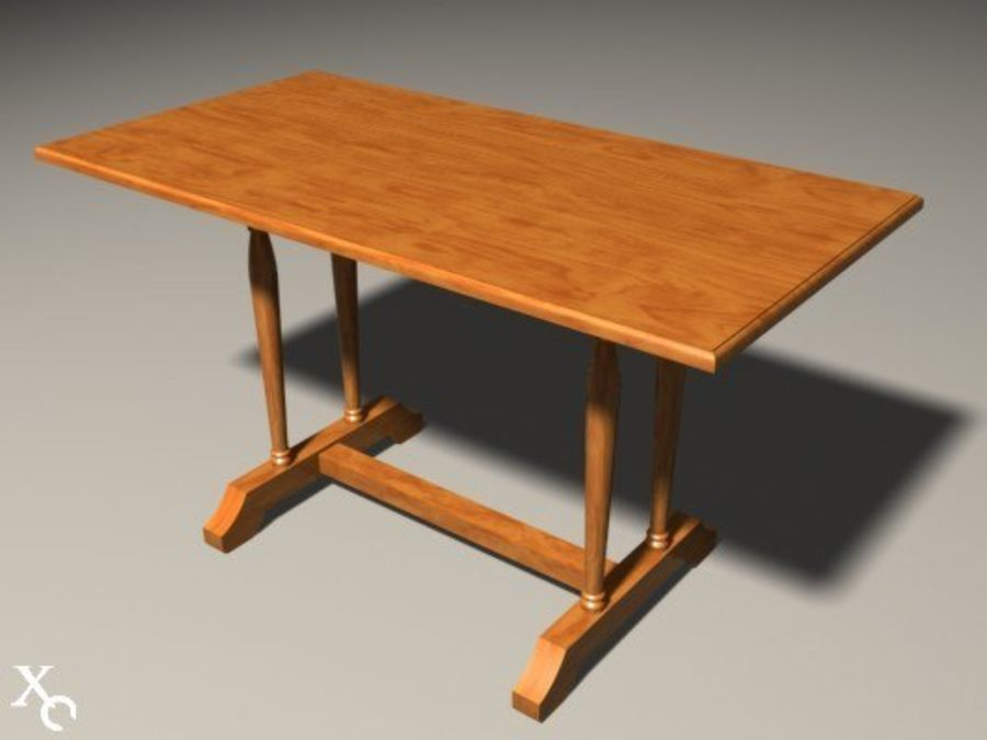 Table Prague H722x1250x650-v6 royalty-free 3d model - Preview no. 8