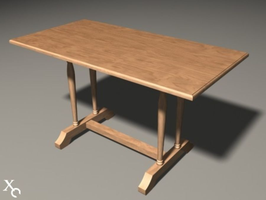 Table Prague H722x1250x650-v6 royalty-free 3d model - Preview no. 1