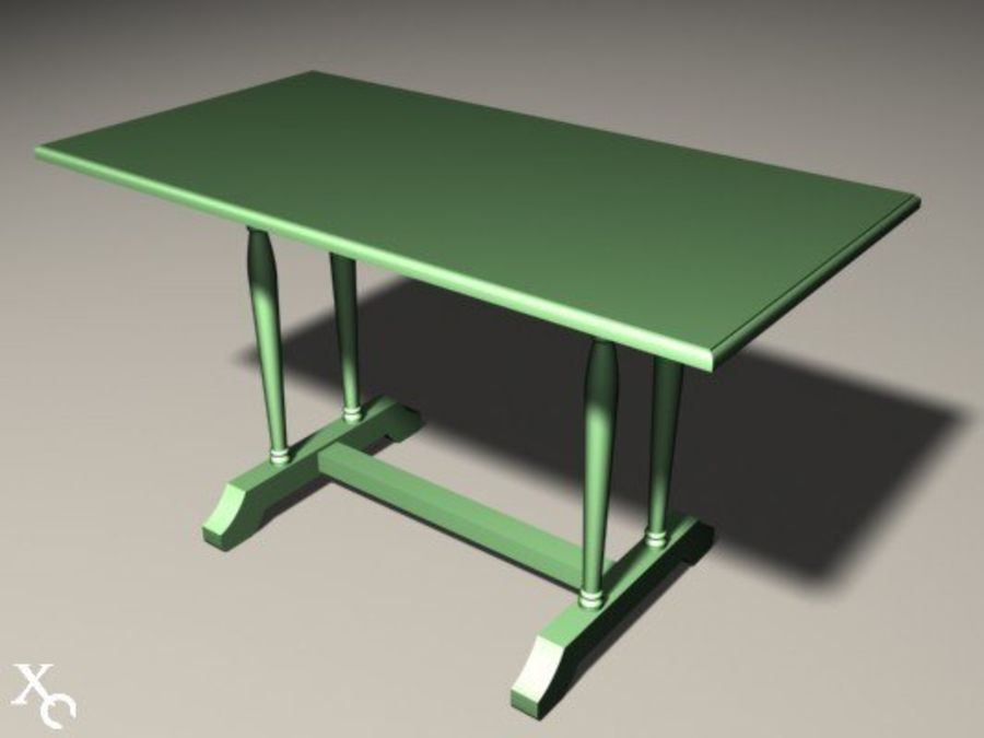 Table Prague H722x1250x650-v6 royalty-free 3d model - Preview no. 10