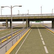 Road Elements 3d model