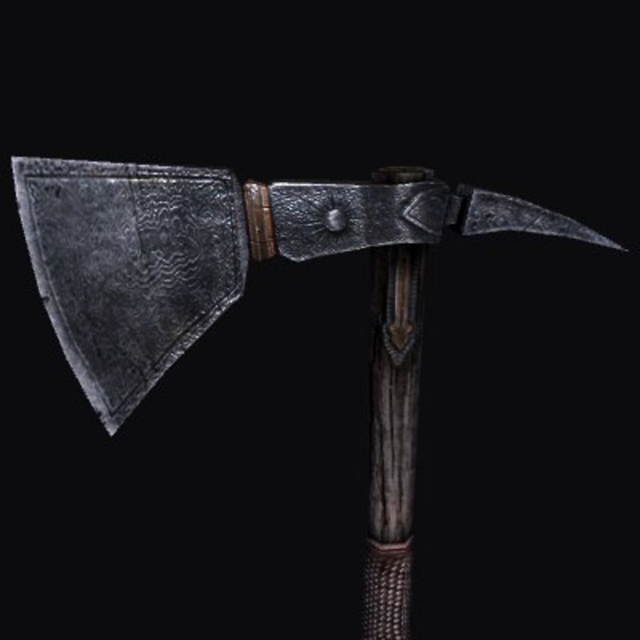 Viking Axe royalty-free 3d model - Preview no. 2