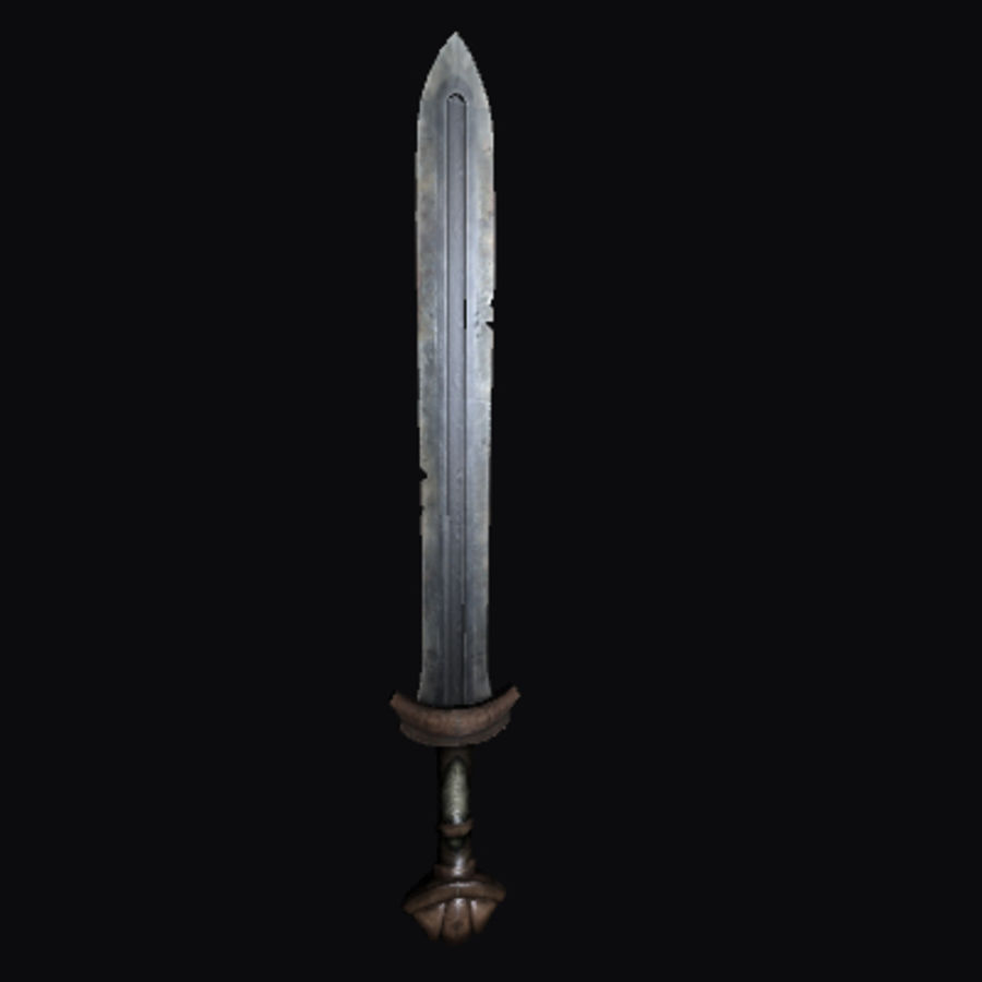 Viking Sword royalty-free 3d model - Preview no. 6