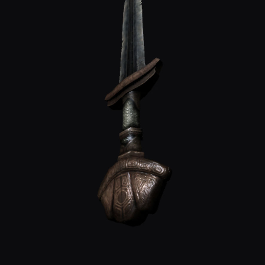 Viking Sword royalty-free 3d model - Preview no. 2