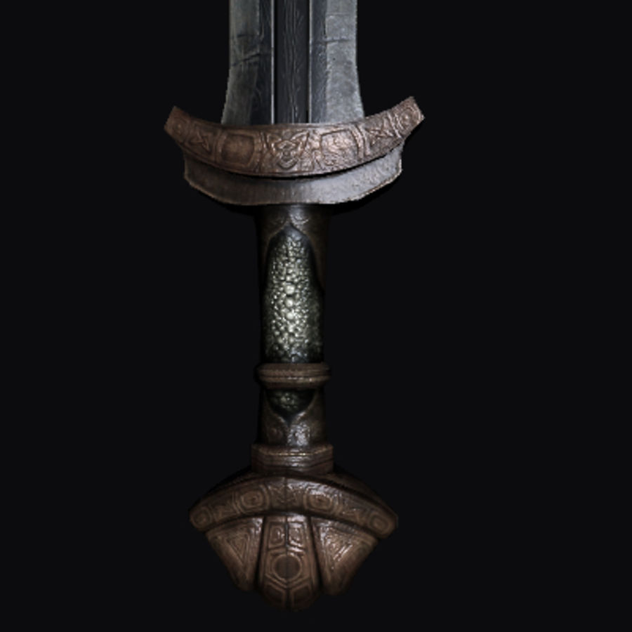 Viking Sword royalty-free 3d model - Preview no. 1