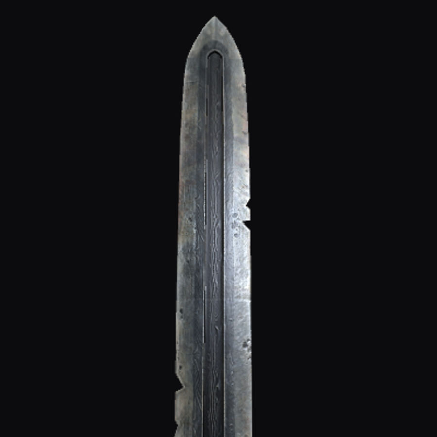 Viking Sword royalty-free 3d model - Preview no. 3