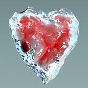 Coeur dans la glace 3d model