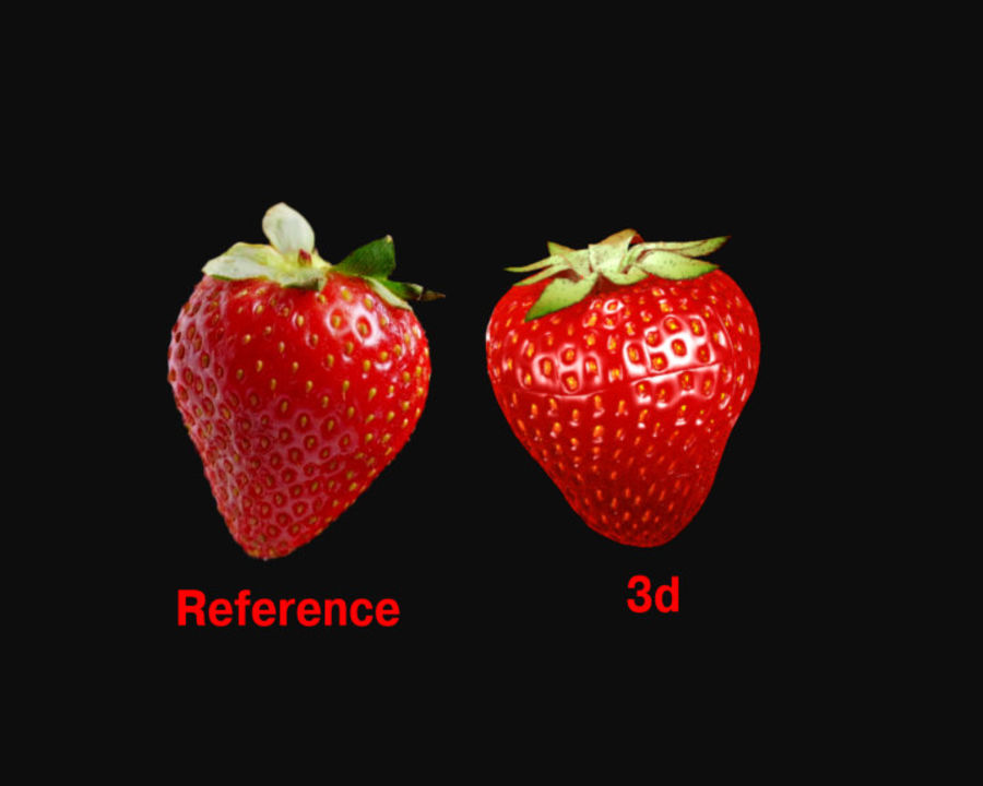 Fragola. royalty-free 3d model - Preview no. 2